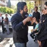 عکس بازیگران در مراسم ختم پدر حامد بهداد