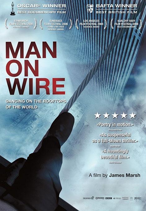 دانلود دوبله فارسی مستند مردی روی سیم Man on Wire 2008