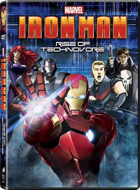 دانلود دوبله فارسی انیمیشن مرد آهنی Iron Man Rise of Technovore 2013