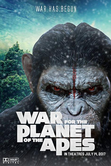 دانلود دوبله فارسی فیلم جنگ برای سیاره میمون ها War for the Planet of the Apes 2017
