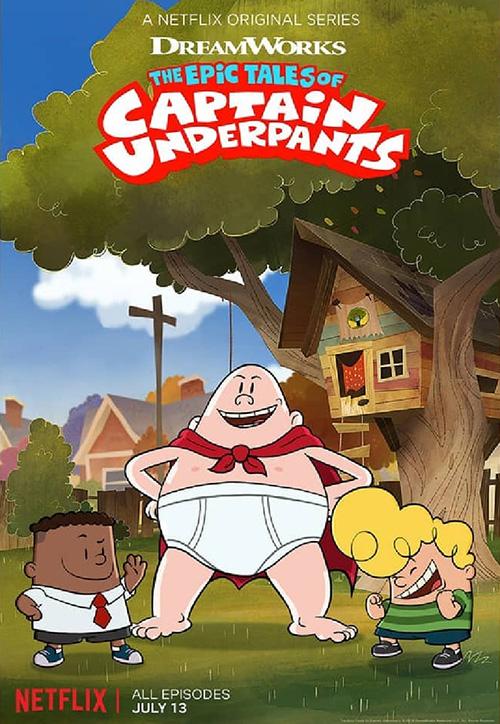 دانلود انیمیشن سریالی کاپیتان زیرشلواری The Epic Tales of Captain Underpants