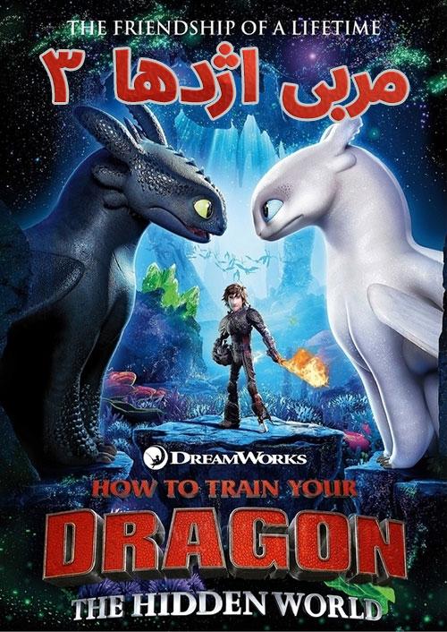 دانلود انیمیشن مربی اژدها 3 با دوبله فارسی How to Train Your Dragon 3 2019
