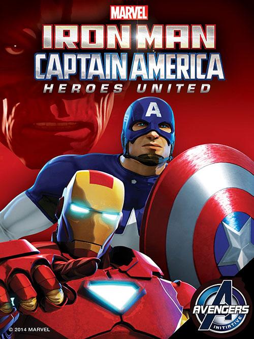 دانلود دوبله فارسی انیمیشن مرد آهنی و کاپیتان آمریکا: اتحاد قهرمانان Iron Man and Captain America: Heroes United 2014