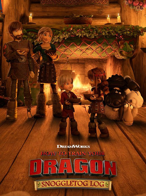 دانلود انیمیشن How to Train Your Dragon: Snoggletog Log 2019