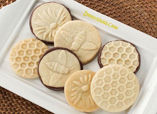طرز تهیه شیرینی لانه زنبوری