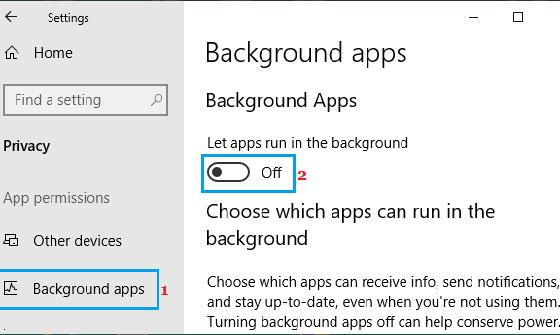 متوقف کردن برنامه های در حال اجرا در پس زمینه ویندوز 10