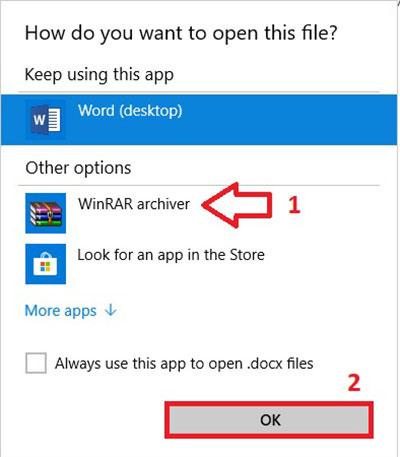 استخراج تصاویر از ورد با نرم افزار WinRAR