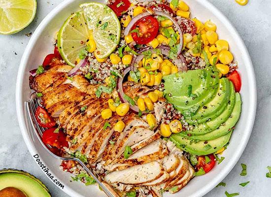 طرز تهیه کاسه مرغ مکزیکی