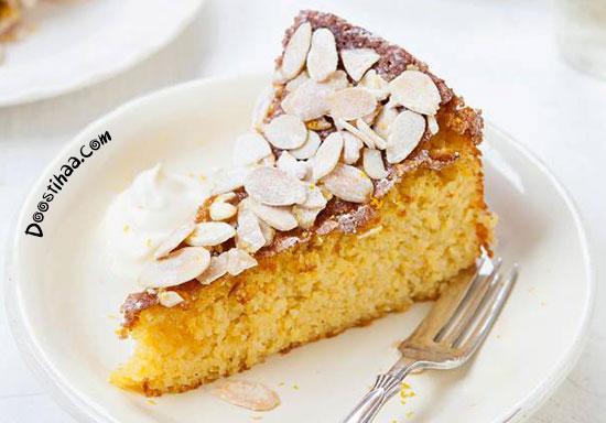 طرز تهیه کیک شیرعسلی و بادام