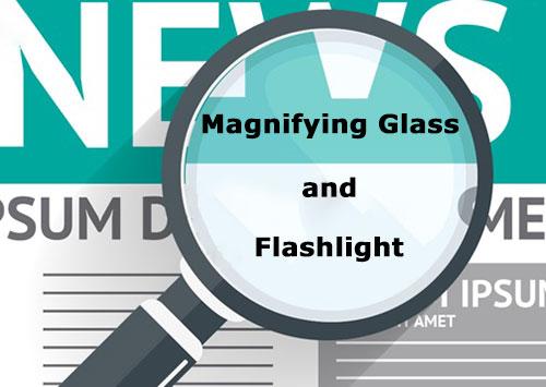 اپلیکیشن ذره بین برای اندروید Magnifying Glass and Flashlight 1.8.5