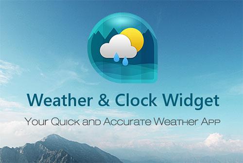 ویجت آب و هوا برای اندروید Weather & Clock Widget for Android 6.1.3.2