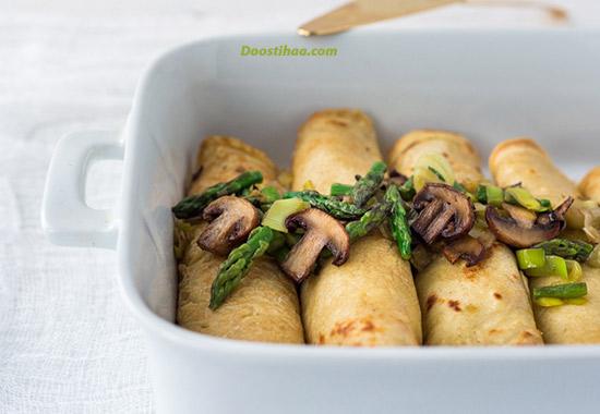 طرز تهیه کرپ سبزیجات