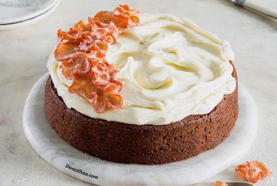 طرز تهیه کیک خرمالو و بادام