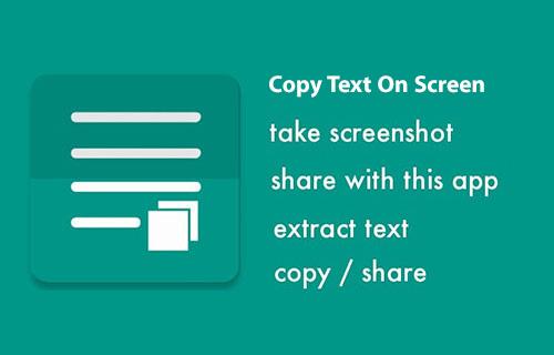 کپی متن از عکس با اپلیکیشن Copy Text On Screen 2.5.0