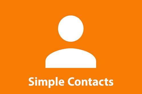 مدیریت مخاطبین با اپلیکیشن Simple Contacts Pro 6.12.3
