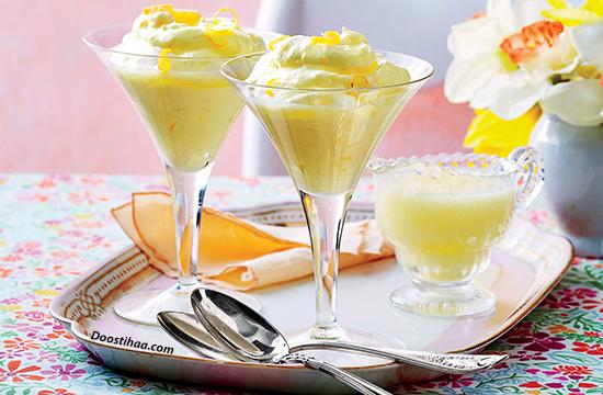 طرز تهیه دسر لیمویی