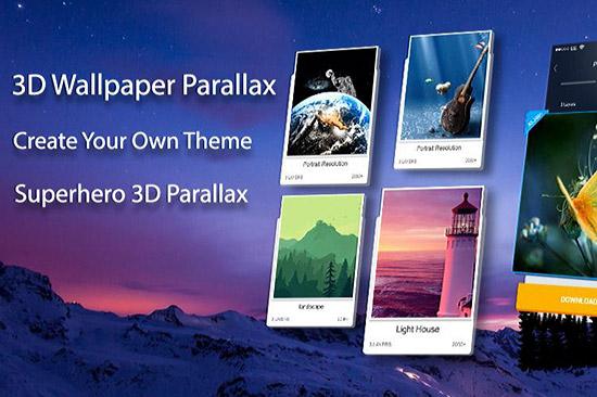 ساخت تصاویر سه بعدی با اپلیکیشن 3D Wallpaper Parallax 7.0.353