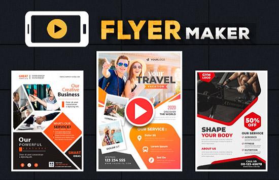 ساخت آگهی ویدئویی با اپلیکیشن Flyer Maker 21.0