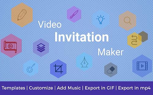 ساخت کارت دعوت با اپلیکیشن Video Invitation Maker 32.0